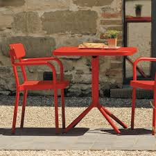 contemporary garden chair with armrests stackable aluminium grace by samuel wilkinson