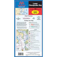 Maptech Folding Waterproof Chart Lower Chesapeake Bay