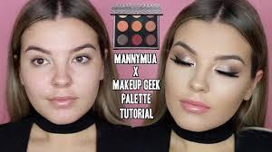 makeupgeek x mannymua palette makeup tutorial smokey eyes jasmine hand you