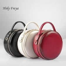 leather small round bag women round handbags cute circular women shoulder bag mini street party small circle cross leather purses designer