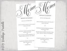free word menu template party menu templates under fontanacountryinn com