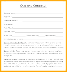 Catering Contract Samples Catering Agreement Template Catering Agreement Template