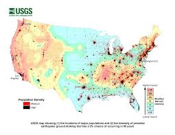 half of americans exposed to potentially damaging earthquakes