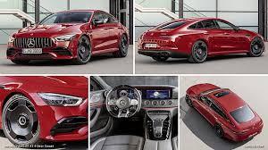 Los cambios de 9 velocidades amg speedshift tct, adaptados al nuevo catálogo de exigencias, entusiasman con transiciones extremadamente rápidas. 2019 Mercedes Amg Gt 43 4 Door Coupe Caricos Com