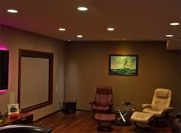 image of small basement recessed lighting