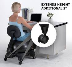 fitness office chair. amazoncom sivan height extenders 2u201d for balance ball chairs set of 4 kitchen u0026 dining fitness office chair