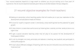 Resume Template For Teachers Magnificent Objective For Teaching Resume Teaching Objectives For Resume Sample