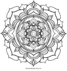 Small Picture Online Flower Mandala Coloring Pages 56 For Coloring Site with