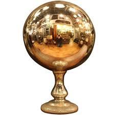 1920s original pharmacy gazing ball made from mercury glass for
