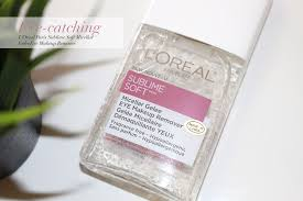 eye catching l oreal paris sublime soft micellar gelee eye makeup remover