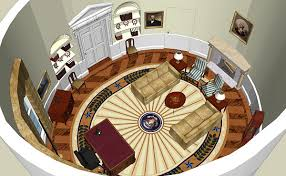 oval office floor plan. Interesting Oval Computer Recreation Of George W Bushu0027s Oval Office  On Floor Plan