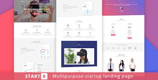 Startr Multipurpose Startup Landing Page Landing Pages Marketing