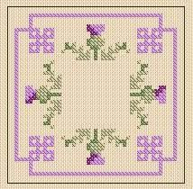 Thistle Knitting Chart A Girl As Mad As Birds Thistle Stitching Accessories Free