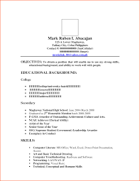 Terrific Resume Format Template Sample For Ojt With Contact