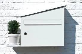 modern wall mailbox curb appeal a white mailbox green modern wall mailbox