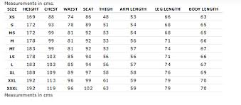 Rip Curl Wetsuit Size Charts Coastal Sports