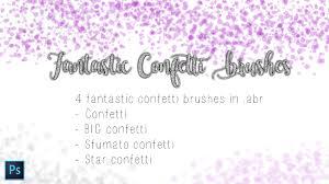 Confetti Brush Photoshop Pack 1 4 Confetti Photoshop Cc Brushes