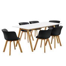 Encasa Esstisch Mit 6 Stühlen Weißschwarz Real