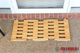 diy wooden doormat 25