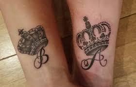 Queen King Tattoo With Our Initials Tatto Tatuaggi
