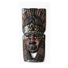 beaded tribal african wooden mask