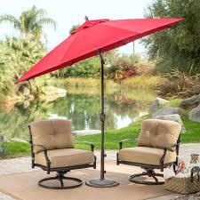 9 ft patio umbrella outdoor 9 ft tilt patio umbrella with antique bronze pole and red 9 ft patio umbrella