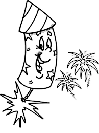 Small Picture Laughing Fireworks Coloring Page Download Print Online