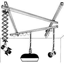 delta 1 two telescope one scissor light mover system