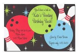 bowling invitation templates birthday invitation wording ideas
