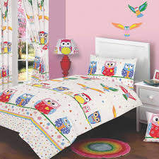 Owl Love single duvet cover & curtains - Ideal for any Owl Themed ... & Owl Love Cot Bed Duvet Cover for your toddler/junior cot bed Adamdwight.com