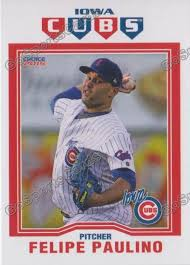 2015 Iowa Cubs Felipe Paulino – Go Sports Cards