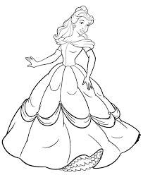princess belle printable coloring pages bell page free for kids disney book colouri