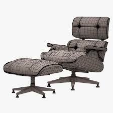 Eames Chair With Ottoman 3d Asset Lounge Chair And Ottoman Charles Eames Cgtrader