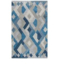 idyllic blue multicolor geometric 10 ft x 13 ft area rug