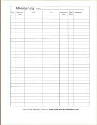 Free Printable Mileage Log For Taxes Mileage Log Book Template Printable For Tax Purposes Auto