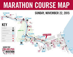Philadelphia Marathon Course Map Philly Marathon Course