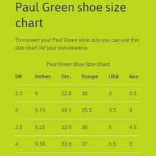 Paul Green Shoe Size Chart Paul Green Leather Suede Booties