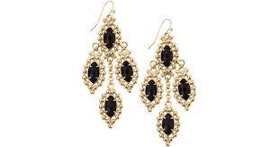kendra scott fiona beadedset chandelier earrings blue goldstone in blue lyst