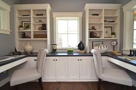 home office desks for two.  Desks Opposite Office Desks Builtin Storage Furniture For Two Design By  Wwwchristianbroscabinetscom Throughout Home Office Desks For Two S