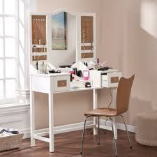 Small Bedroom Vanity Table Mesmerizing White Vanities Table For Small Bedrooms With Mirror