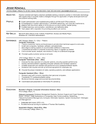 10 Resume Sample For Computer Technician Budget Reporting