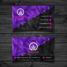 Black And Purple Abstract Business Card Free Vector Free