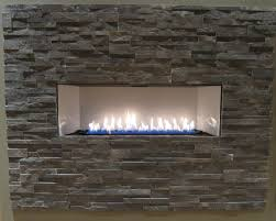 modern home interior ideas with ventless gas fireplace insert and stacked stone surrounds wide electric bio