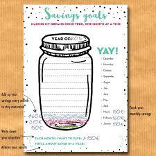 Savings Goal Tracker Jar Savings Chart Budget Planner Financial Binder A4 A5 Us Letter Inserts For Filofax Kikki K Printable Pdf