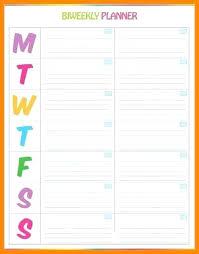 Family Weekly Calendar Planner Template Free Printable Birthday 8