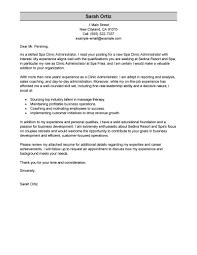 Cover Letter Sample For Education Administration