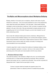 myths and misconceptions about workplace bullying by josh bornstein