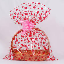 whole clear cellophane film gift basket bag