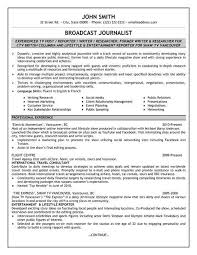 News Reporter Resume Samples Zromtk Cool Journalism Resume Examples