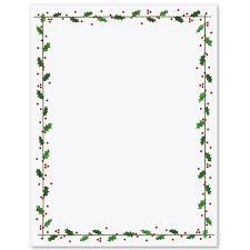 Holly Border Letterhead Paperdirects